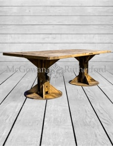Reclaimed Pine Refectory Dining Table *3 CARTONS*