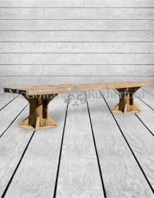 Reclaimed Pine Refectory Bench