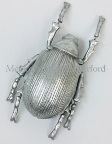 Large Silver Beetle Wall Decor