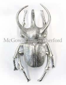 Extra Large Silver Beetle Wall Decor