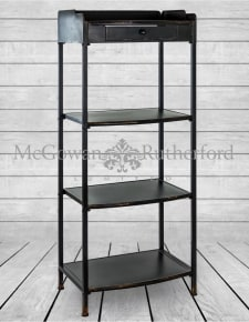 "Black Metal ""Verne"" Tall Shelf Unit"