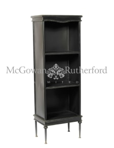 "Black Metal ""Verne"" Tall Bookcase/Cabinet"