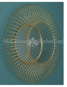 Large Gold Metal Deep Wire Frame Wall Mirror
