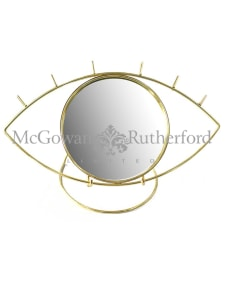 Metallic Gold Eye Table Mirror