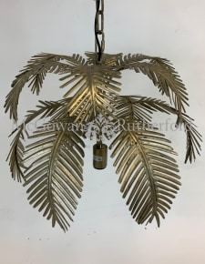 Antiqued Gold Fern Leaf Chandelier Pendant