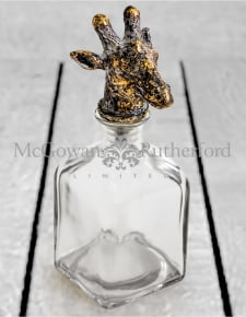 Large Glass Storage Bottle with Giraffe Head Stopper