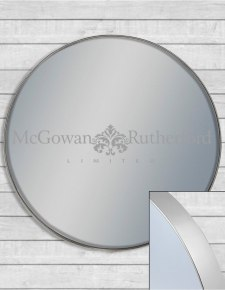 Giant Round Silver Framed Arden Wall Mirror