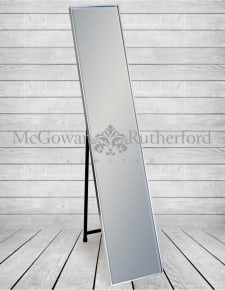 Silver Framed Arden Rectangular Cheval Dressing Mirror