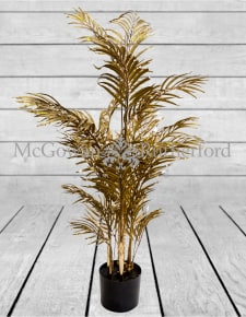 Metallic Gold Small Potted Fern Plant