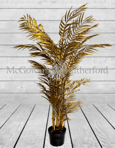 Metallic Gold Large Potted Fern Plant