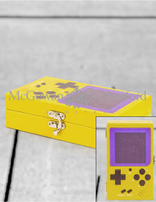 Yellow Retro Handheld Games Console Storage Box