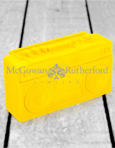 Bright Yellow Flock Radio Money Box