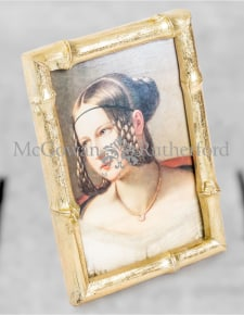 "Antique Gold 4x6"" Bamboo Photo Frame"