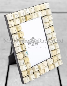 "Upcycled Classic Computer Keyboard 4x6"" Photo Frame"