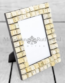 "Upcycled Classic Computer Keyboard 5x7"" Photo Frame"