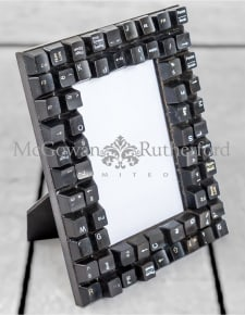 "Upcycled Black Computer Keyboard 4x6"" Photo Frame"