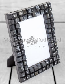 "Upcycled Black Computer Keyboard 5x7"" Photo Frame"