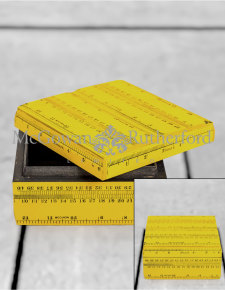 Retro Yellow Ruler Small Storage Box