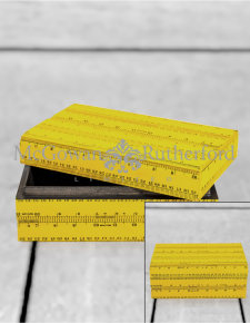 Retro Yellow Ruler Large Storage Box