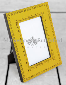 "Retro Yellow Ruler 4x6"" Photo Frame"