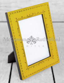 "Retro Yellow Ruler 5x7"" Photo Frame"