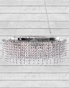 Large Round Crystal Waterfall Chandelier