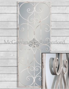 Rustic Chantilly Grey Rectangular Panel Mirror