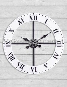 Medium Black and White Lacquered Dial Wall Clock