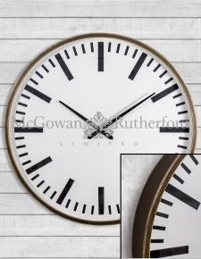 Extra Large Iron Framed Station Wall Clock