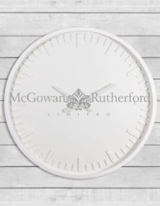 Large White Station Wall Clock