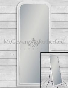 French Grey Beaded Wall & Freestanding Mirror