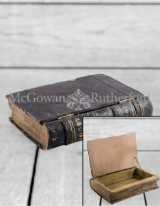 Extra Large Antiqued Ledger Book Storage Box (to be bought in qtys of 2)