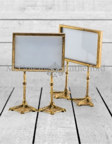 "Pair of Antique Gold 5x7"" Duck Feet Landscape Photo Frames"