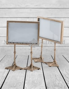 "Pair of Antique Silver 5x7"" Duck Feet Landscape Photo Frames"