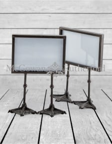 "Pair of Antique Black 5x7"" Duck Feet Landscape Photo Frames"
