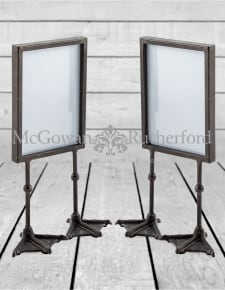 "Pair of Antique Black 5x7"" Duck Feet Portrait Photo Frames"