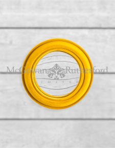 Mustard Yellow Flock Rounded Framed Small Convex Mirror