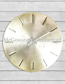 Large Brushed Brass Metal Wall Clock