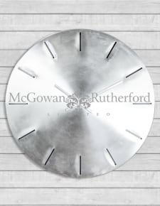 Extra Large Brushed Steel Metal Wall Clock