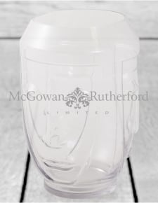 Clear Glass Deco Face Vase