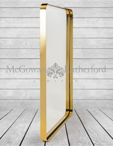 Brass Stainless Steel Rectangular Holden Wall Mirror