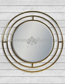 Brass Stainless Steel Circular Holden Wall Mirror