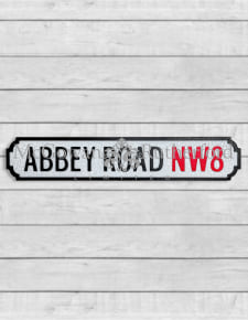 "Antiqued Wooden ""Abbey Road NW8"" Road Sign"