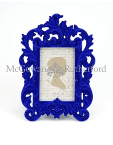 Cobalt Blue Flock Ornate Photo Frame