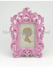 Soft Pink Flock Ornate Photo Frame