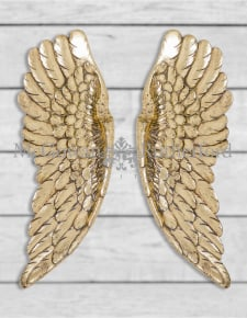 Pair of Antique Gold Wall Hanging Angel Wings