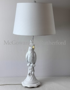 Matt White Parrot Table Lamp with White Shade