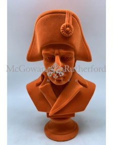 Bright Orange Flock Large Napoleon Bust