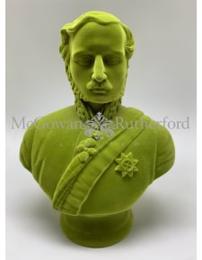 Olive Green Flock Large Prince Albert Bust
