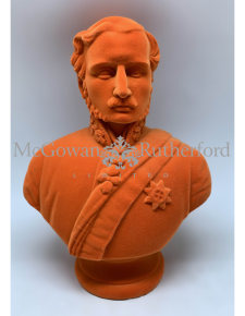 Bright Orange Flock Large Prince Albert Bust